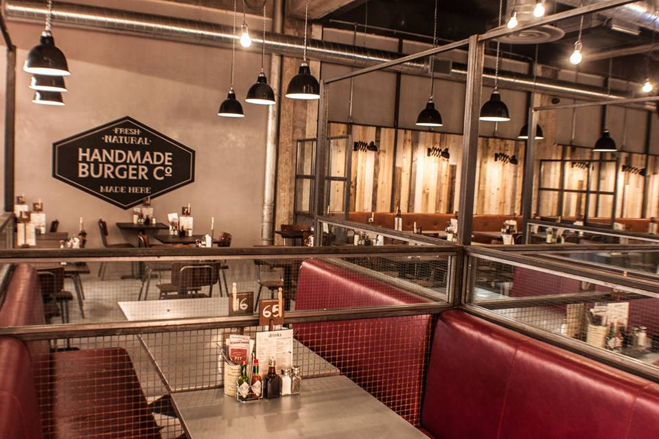Handmade burger co grand central birmingham restaurant for Grand interior designs kings heath