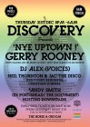 Horse & Groom NYE w/ Andy Smith (Ex Portishead) pres Boombox, Gerry Rooney (Velvet Seasons), DJ Alex, Discovery & Reach Up!