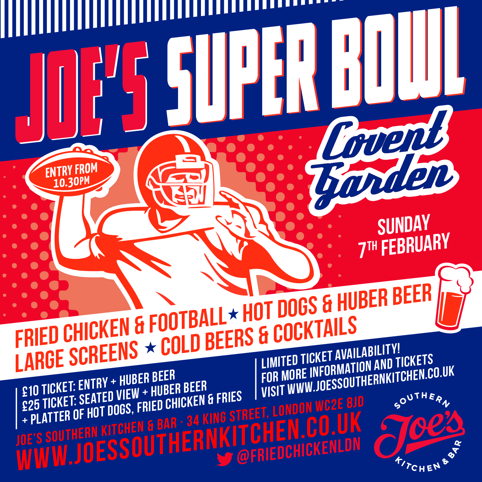 Superbowl 50 At Joe's Southern Kitchen And Bar