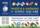 Live 6 Nations showing at Soho Square!