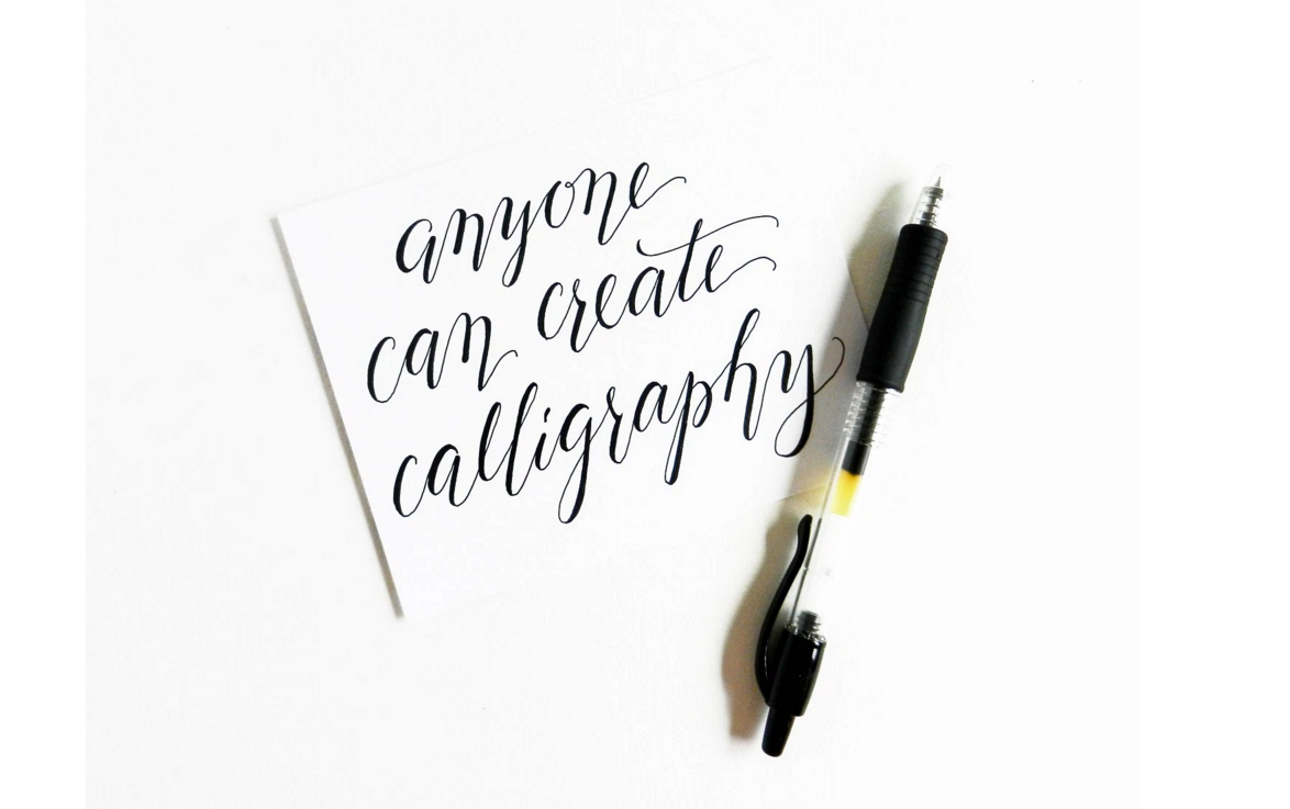 Beginners modern calligraphy workshop with tea cake £