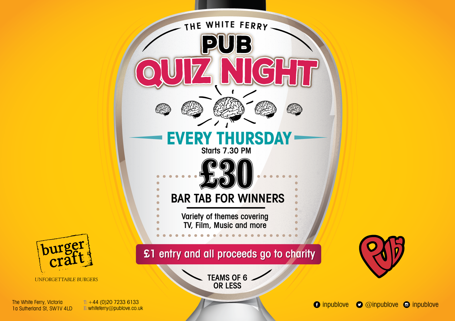 Pub Quiz Night - Thursdays