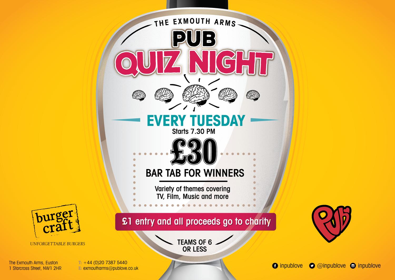 Pub Quiz Night - Tuesdays | North London, London Quiz Night