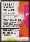 The Horse & Groom Easter  Disco with Ray Mang, Tommy Vicari Jnr (Cabinet, Robosoul), Untitled, Discovery