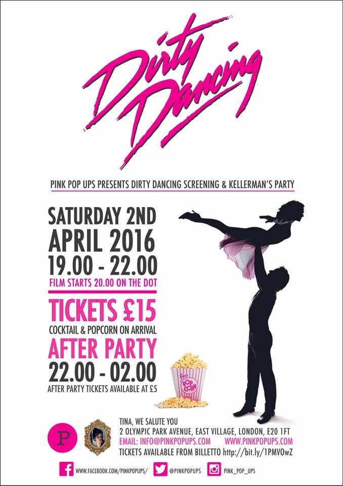 Pop Up Dirty Dancing Kellerman 39 S Resort Party Tina We