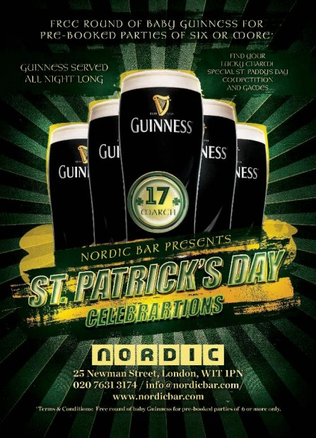 Nordic Bar Presents St Patrick's Day Celebrations