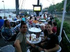 England vs Wales aboard boat Bar&Co on Thames