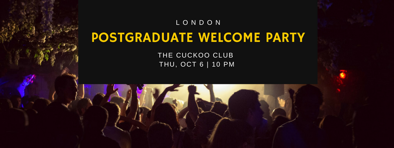 London Postgraduate Welcome Party 2016