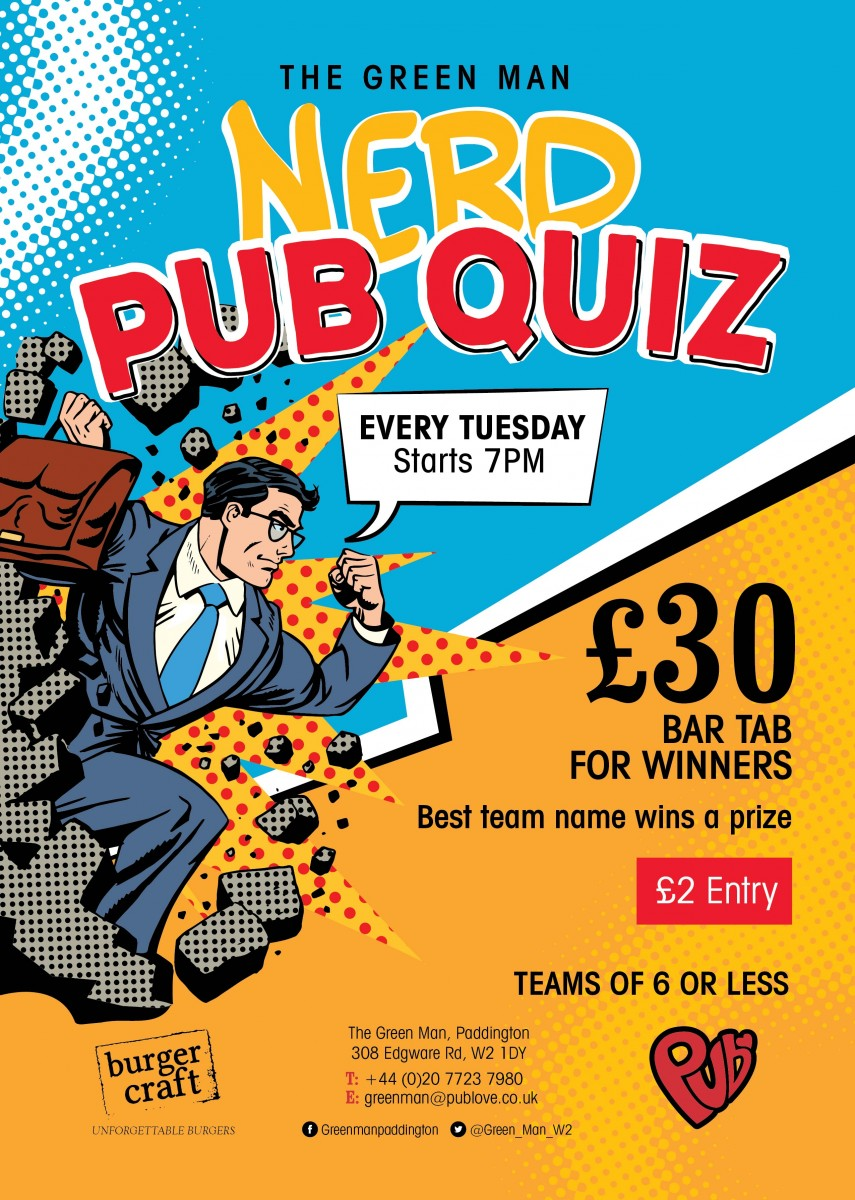 Nerd Pub Quiz - Tuesdays