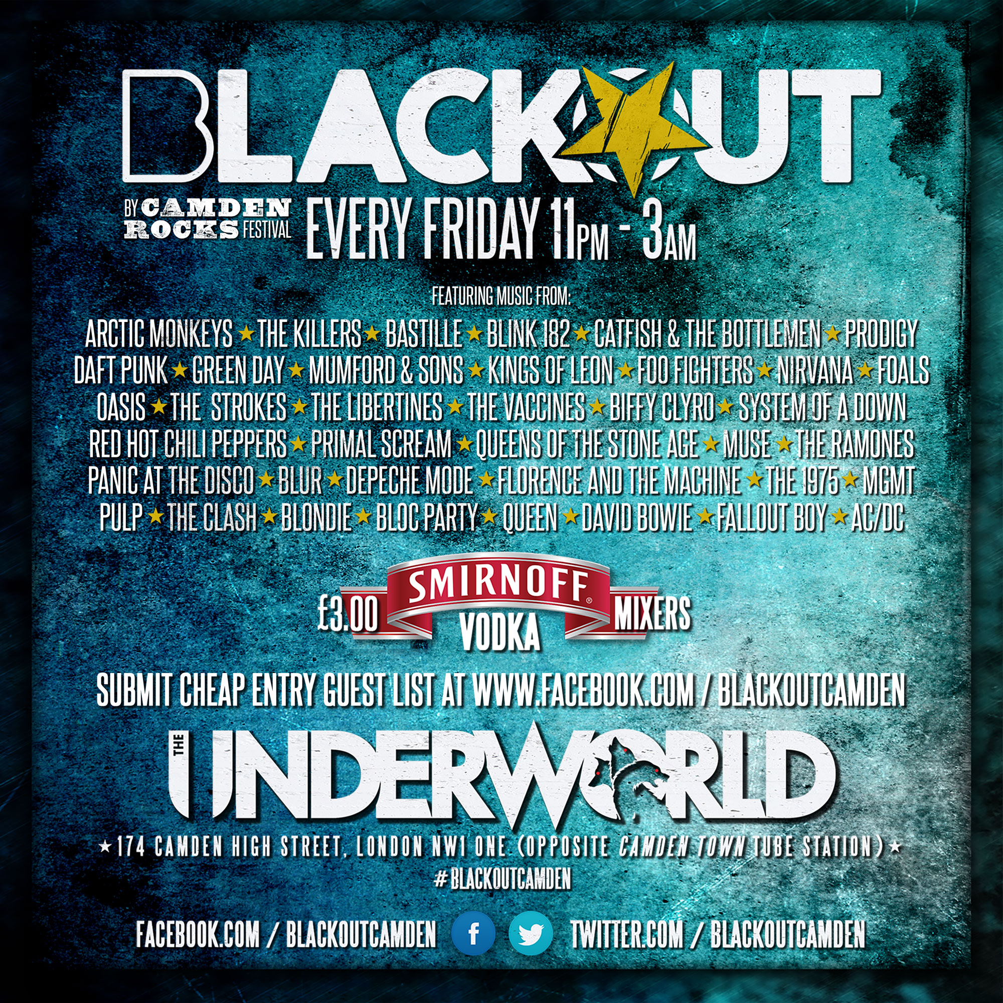 Blackout Club at The Underworld Camden // Cheap drinks, rocking music!