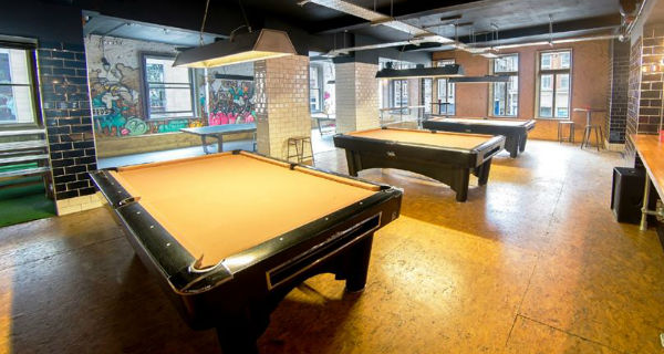 Roxy Ball Room Manchester Ping pong and pool bar heading to Deansgate