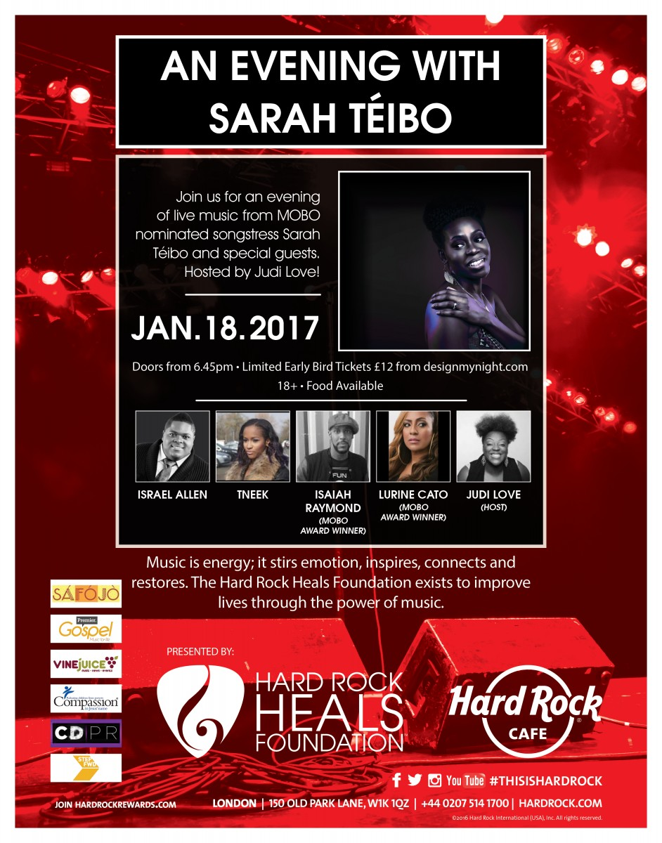 Hard Rock Live: An evening with Sarah Téibo