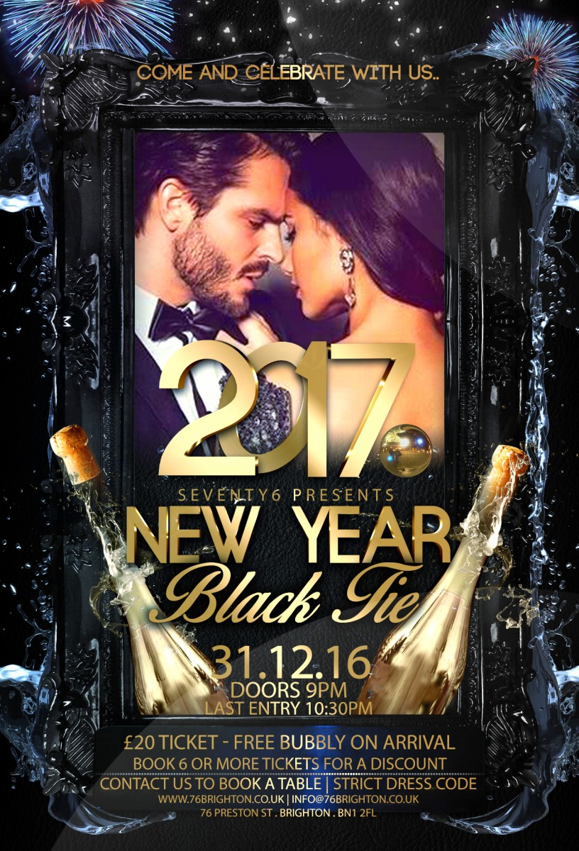 NYE PARTY // Black tie // Seventy6 Brighton