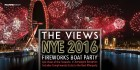"""VIEWS"" fireworks boat party - NYE 2016"