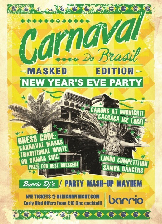 Barrio Shoreditch: NYE 2016 Barrio Shoreditch Masked Carnaval Party