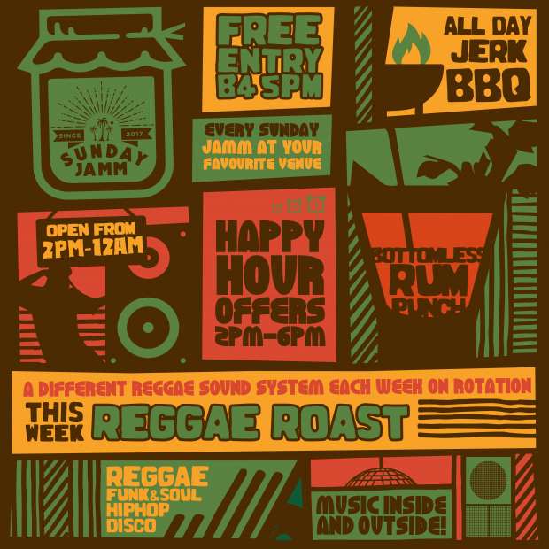 Sunday Jamm Reggae Roast Soundsystem Brixton London