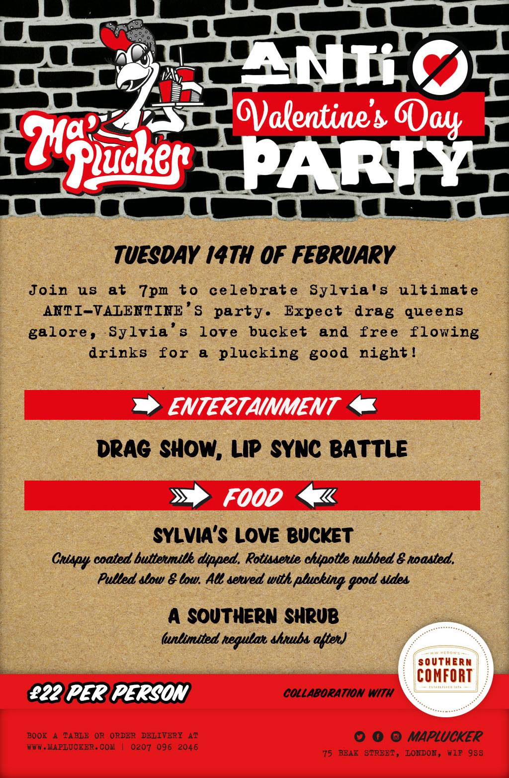 Anti Valentines Day Party London Food Drink Reviews Designmynight