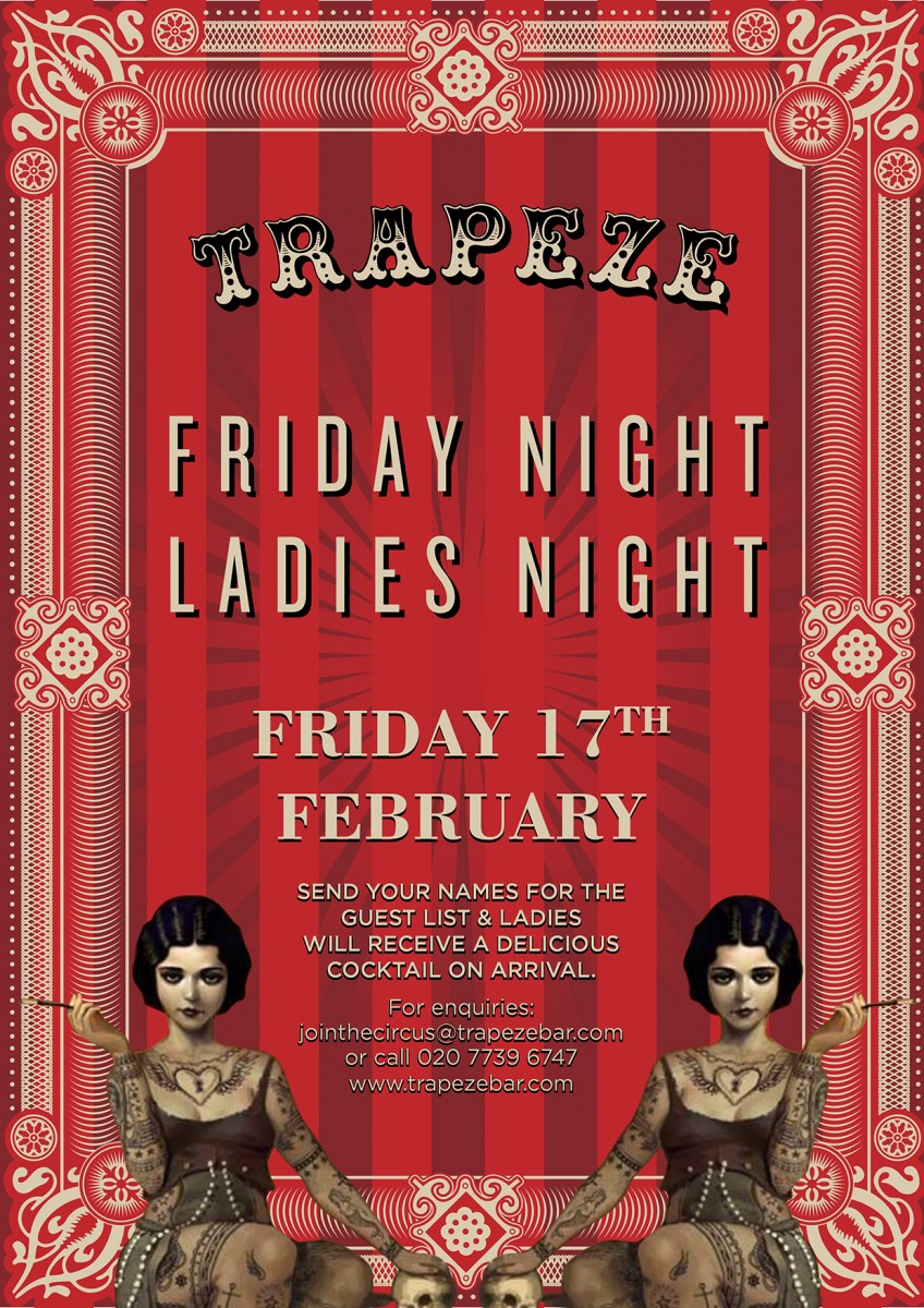 Trapeze Bar Shoreditch: Ladies' Night Trapeze London
