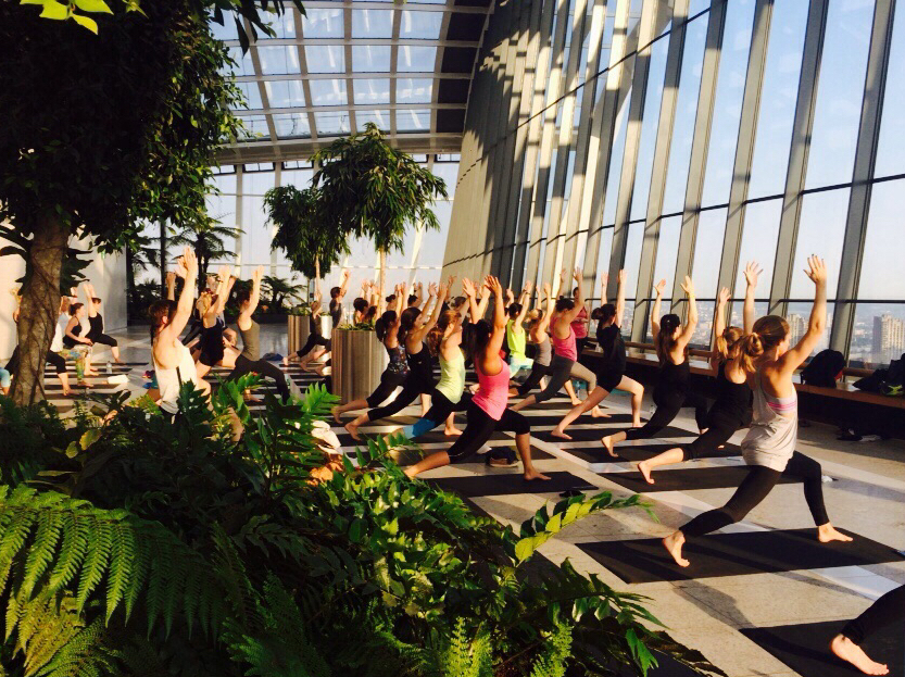 Sunrise Yoga At Sky Garden City Of London London