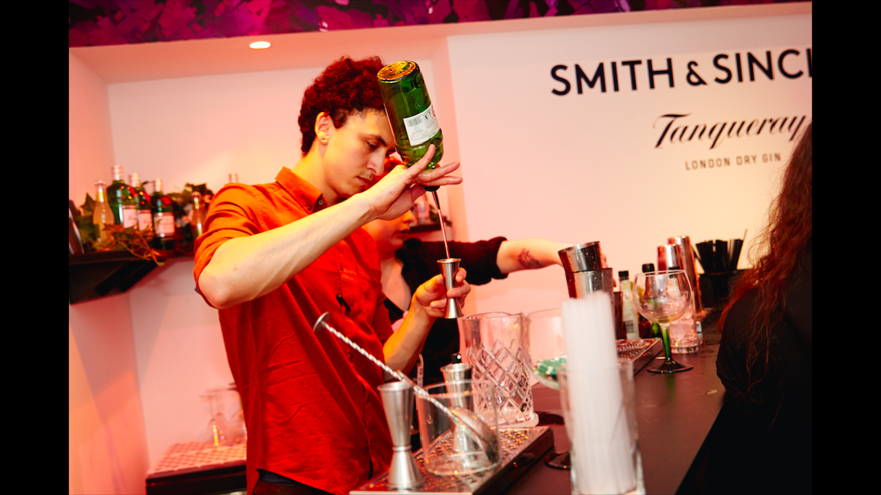 The Smith & Sinclair & Tanqueray Experimental Garnish Bar
