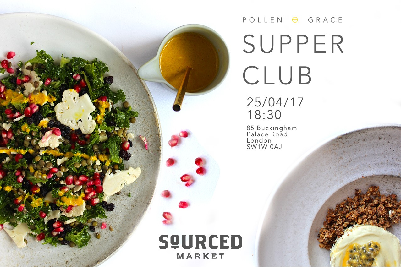 Pollen + Grace Premier Supper club at Sourced Market