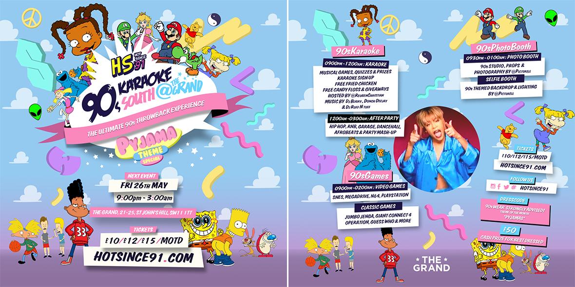 Hot Since 91: 90s Karaoke - Pyjama Party | London Karaoke