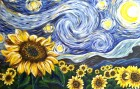 Paint Starry Night with Sunflowers!