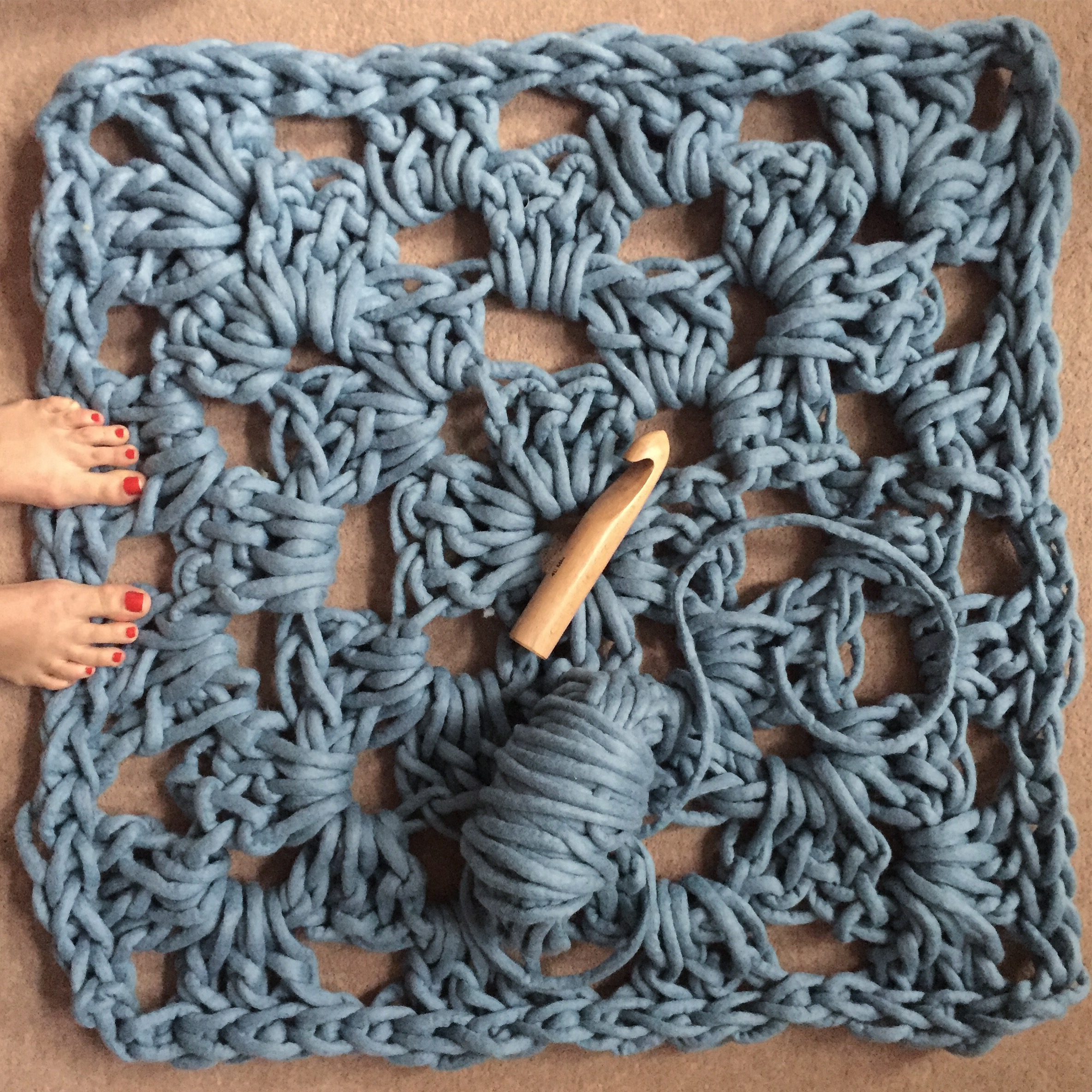 Giant Crocheted Granny Square Rug Workshop London Daytime Reviews