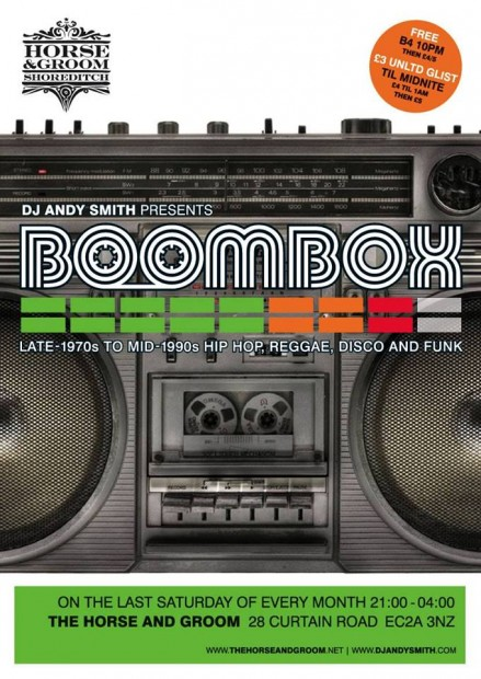 Andy Smith (Ex Portishead) presents Boombox meets Stylus