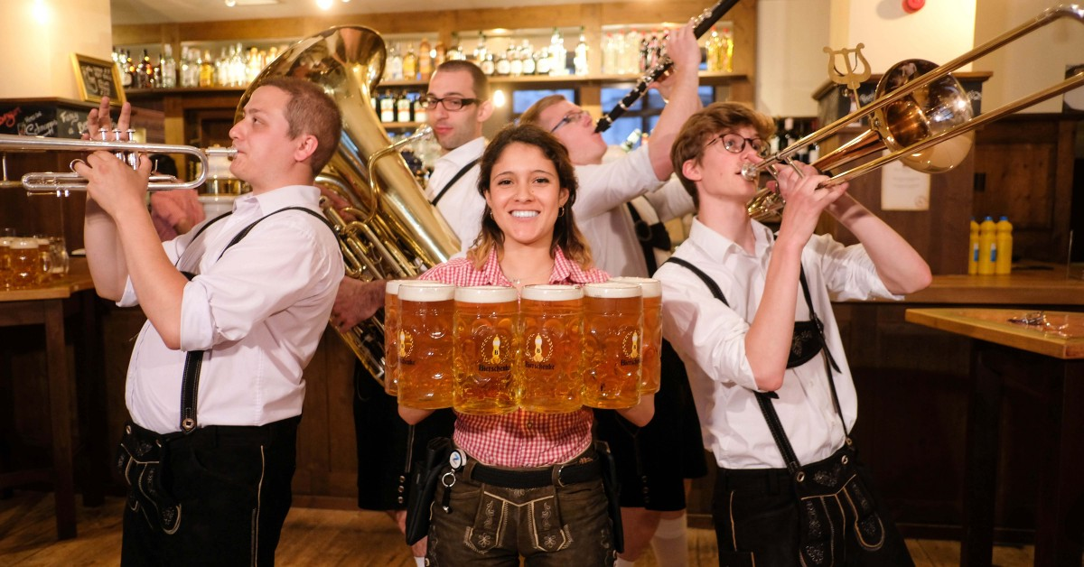 oktoberfest london at tobacco dock