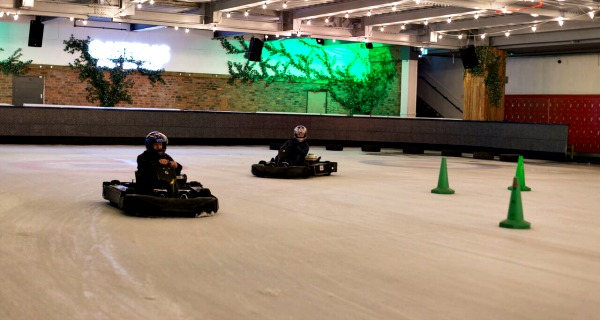 Ice Karting at Queens Skate Dine and Bowl