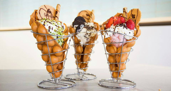 Bufle Bufle brings Hong Kong dessert bubble waffles to Soho with tasty Eastern cocktails