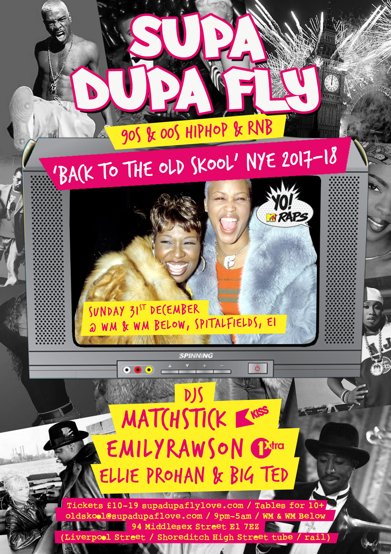 Supa Dupa Fly x Back To The Old Skool x NYE