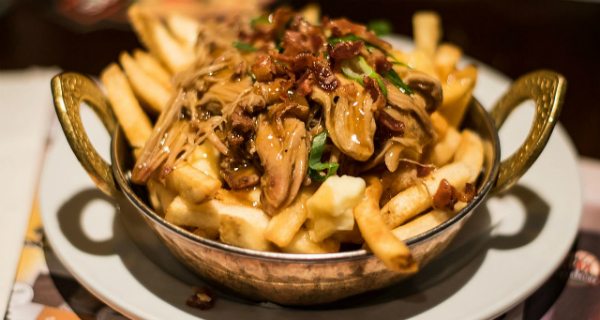 Air Canada's Poutinerie pop up at Kingsland Road in Shoreditch