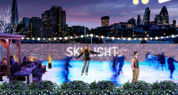 Skylight winter playground at Tabacco Dock