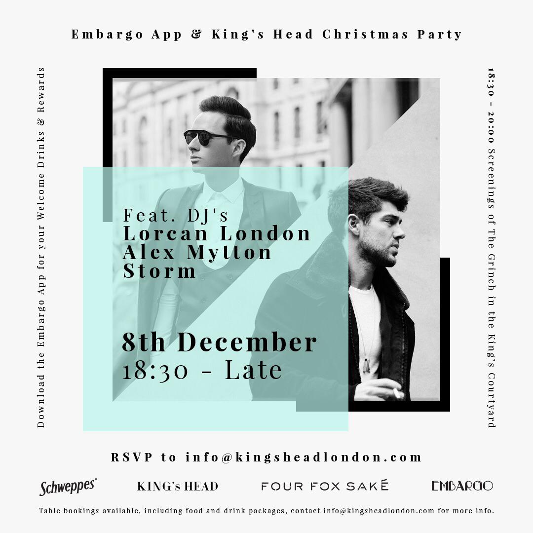 Embargo App & King's Head Christmas Party