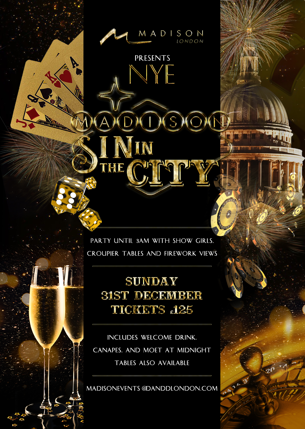 SIN IN THE CITY – NEW YEAR'S EVE AT MADISON