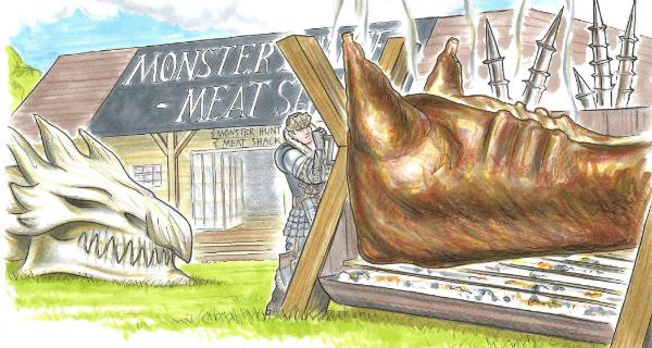 Monster Hunter Meat Shack in London