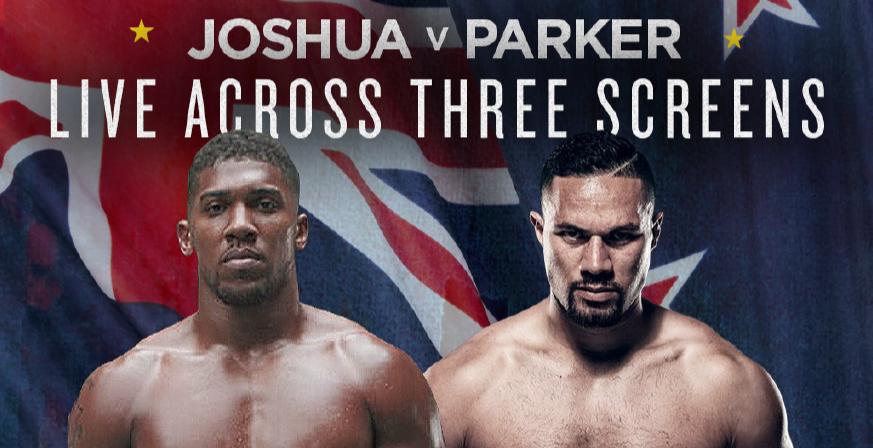 Image result for Joshua vs Parker Fight Live