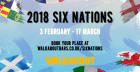THE 2018 SIX NATIONS LIVE AT THE HOME OF RUGBY – WALKABOUT!