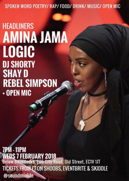 Word on the Street- Logic & Amina Jama (Spoken Word & Hip Hop with Open Mic