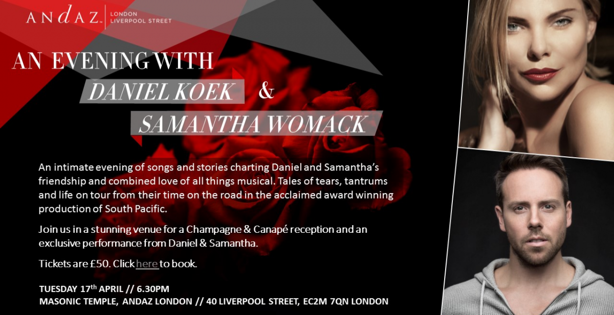 AN EVENING WITH DANIEL KOEK & SAMANTHA WOMACK