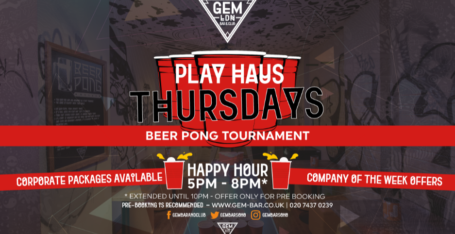 Play Haus Thursdays - Beer Pong Tournament