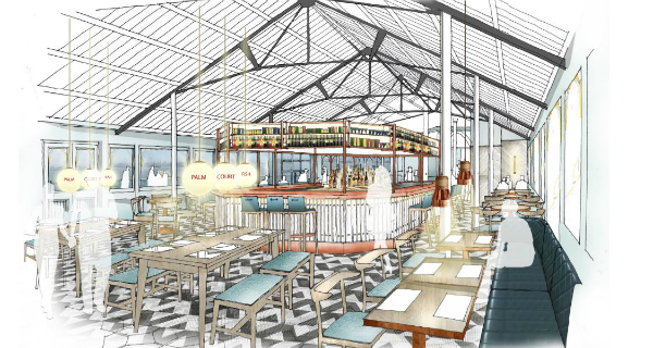 Palm Court Restaurant under refurbishment in Brighton