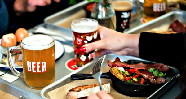 bottomless beer brunch in london