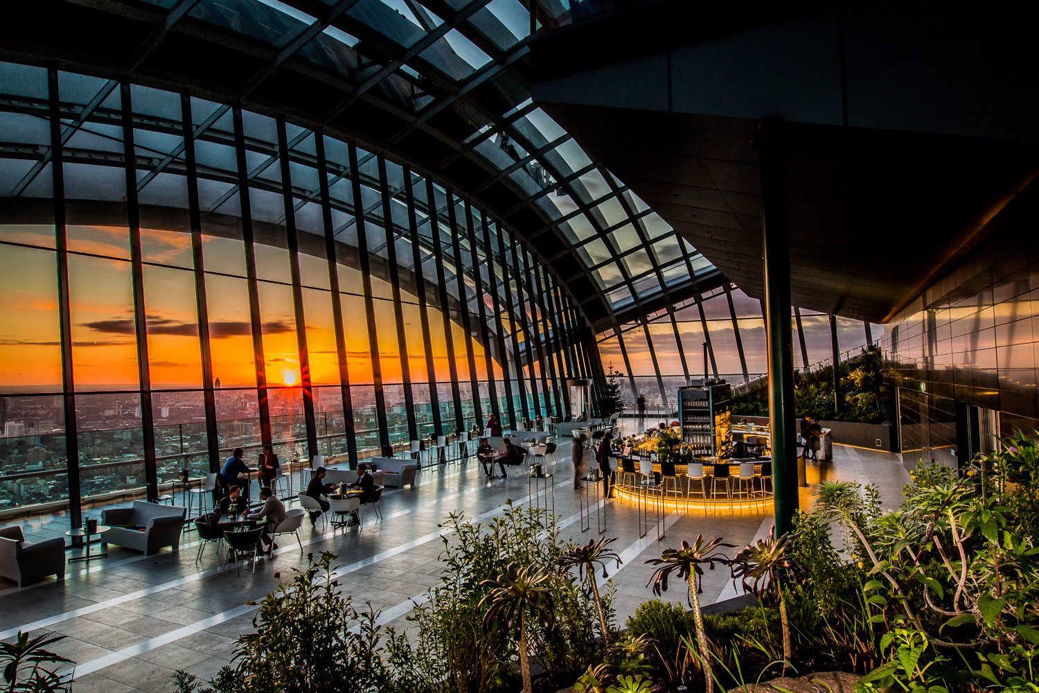Sky Garden's Moët & Chandon Winter Bar