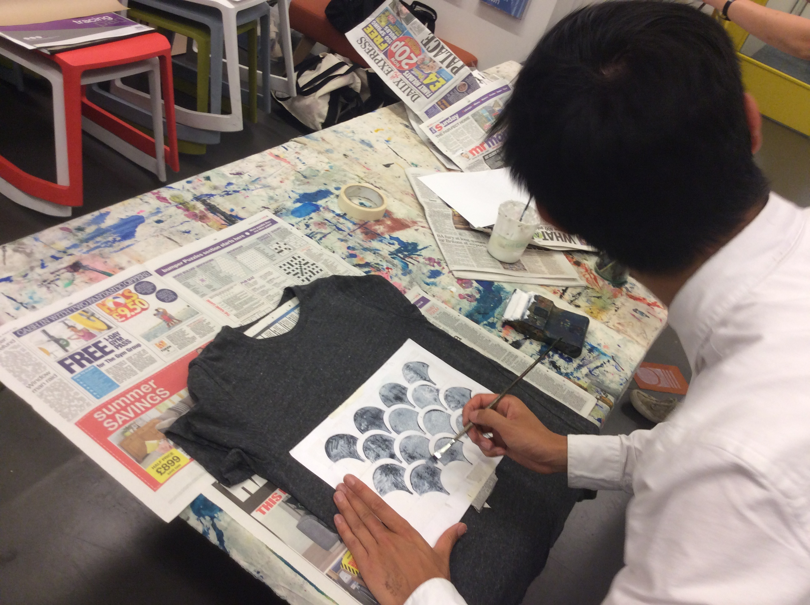 Metallic Printing Workshop at Copper Beech Café at JAGS Sports Club