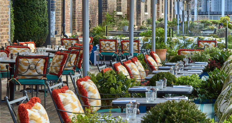 Granary Square Brasserie Physic Garden