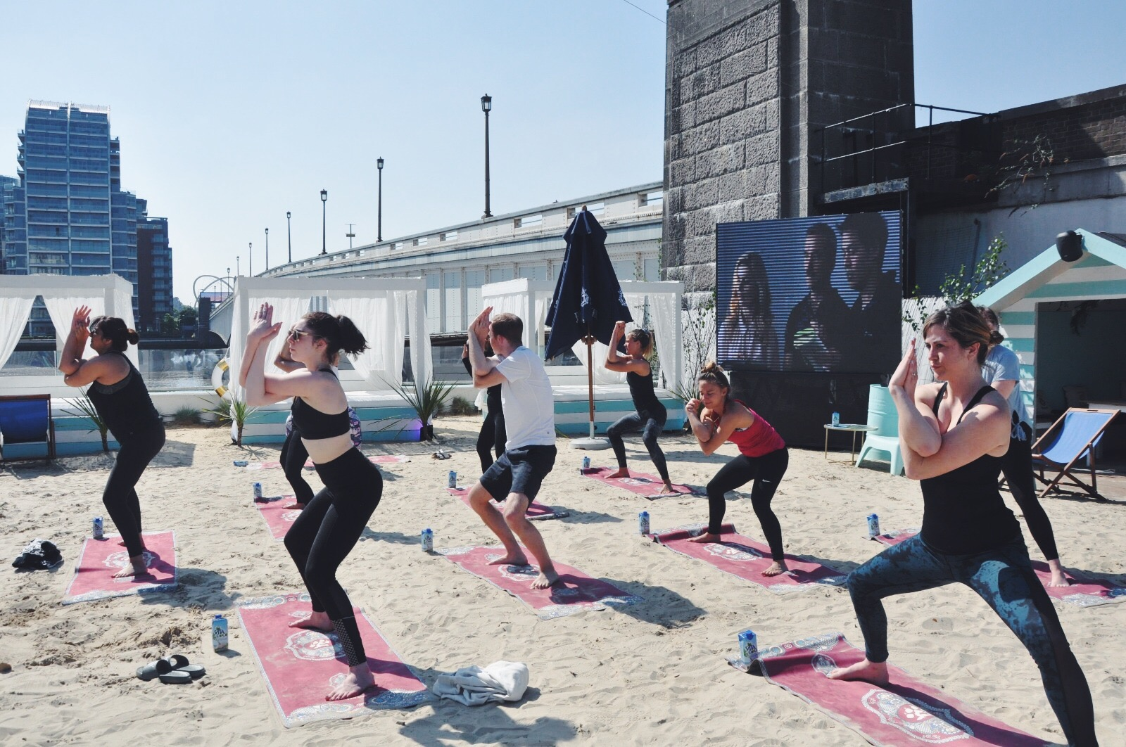 Beach Yoga at Neverland London