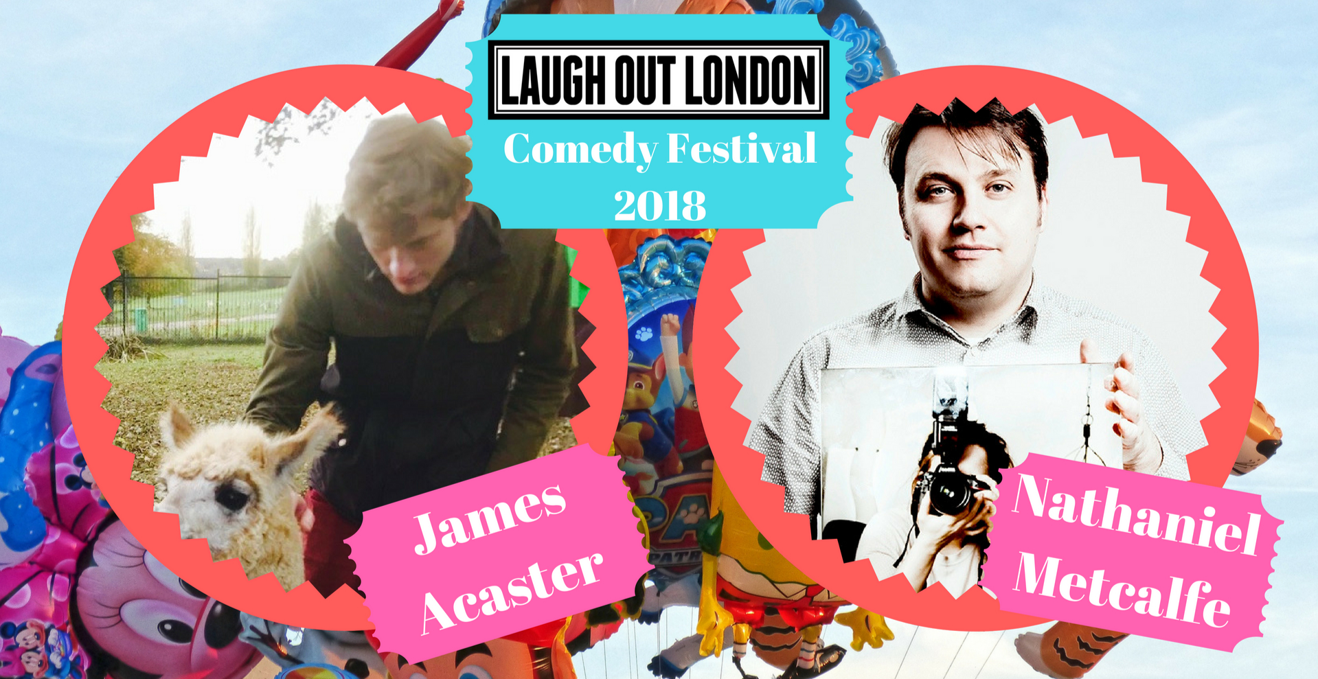 James Acaster and Nathaniel Metcalfe - Laugh Out London Comedy Festival 2018